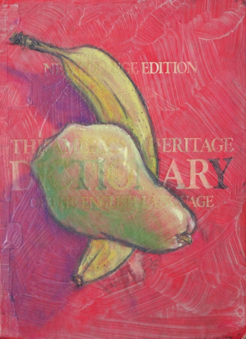 Pear and Banana on a Dictionary